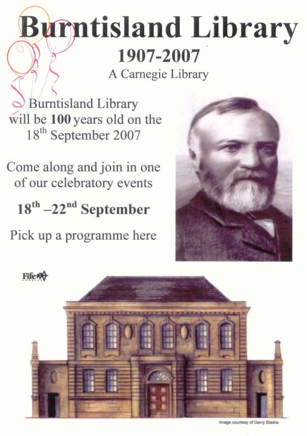 Library centenary poster