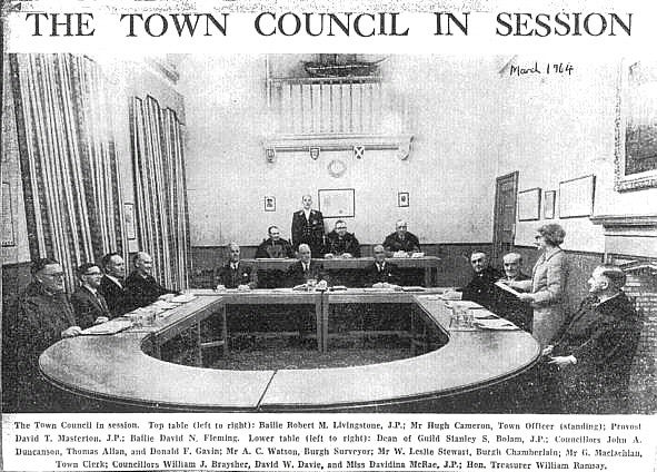 The Town Council in Session in 1964